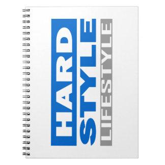 Diseño de la forma de vida de Hardstyle Libros De Apuntes Con Espiral