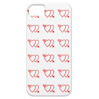Diseño de la forma del corazón iPhone 5 protector