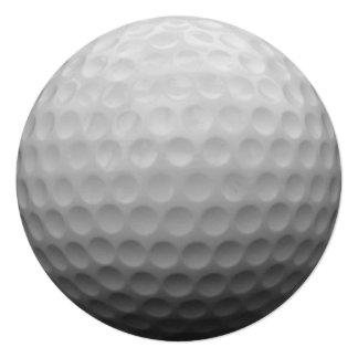 """Diseño de la foto de la pelota de golf invitación 5.25"""" x 5.25"""""""