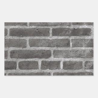 Diseño de la foto del ladrillo pegatina rectangular