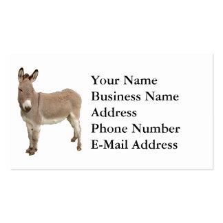 Diseño de la fotografía del burro tarjetas de negocios