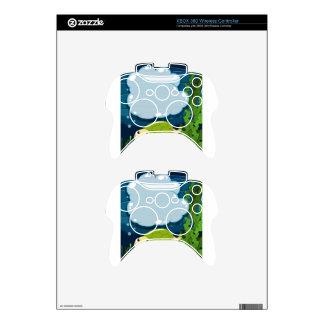 Diseño de la frontera con la tortuga subacuática mando xbox 360 calcomanía