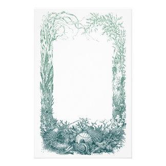 Diseño de la frontera de las plantas y de las cásc papelería de diseño