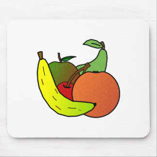 diseño de la fruta tapetes de ratones