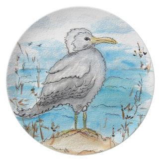 Diseño de la gaviota plato