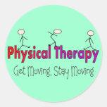 Diseño de la gente del palillo de la terapia físic etiqueta