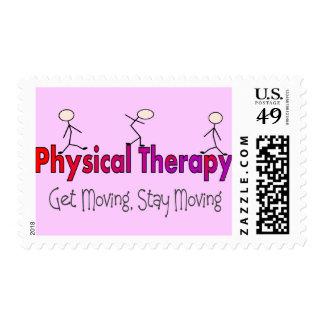 Diseño de la gente del palillo de la terapia sello postal