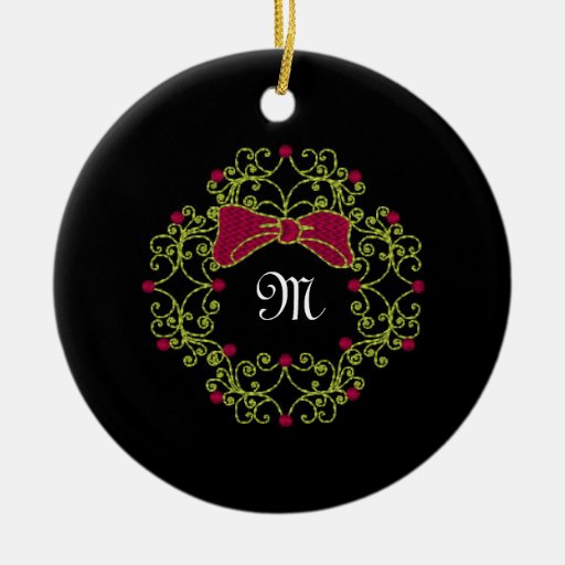 Diseño de la guirnalda del estilo del bordado ornamento para arbol de navidad