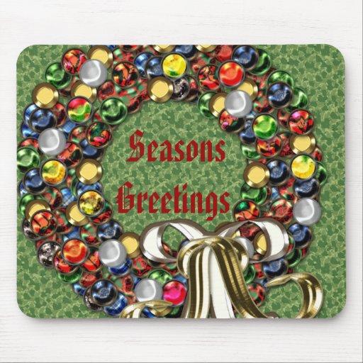 Diseño de la guirnalda del navidad tapetes de ratones
