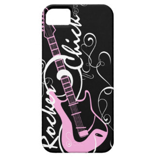 Diseño de la guitarra del polluelo del eje de bala iPhone 5 protectores