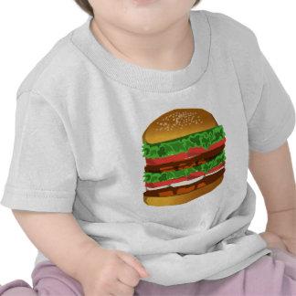 Diseño de la hamburguesa camisetas