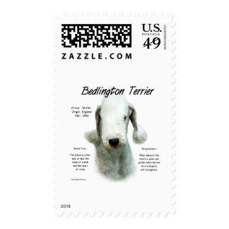 Diseño de la historia de Bedlington Terrier Sello