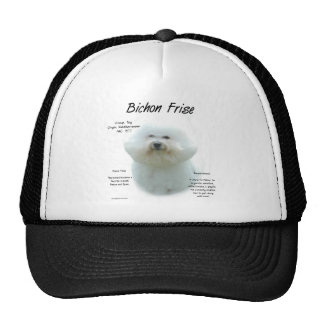 Diseño de la historia de Bichon Frise Gorra