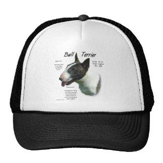 Diseño de la historia de bull terrier (coloreado) gorra