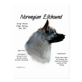 Diseño de la historia de Elkhound del noruego Postal