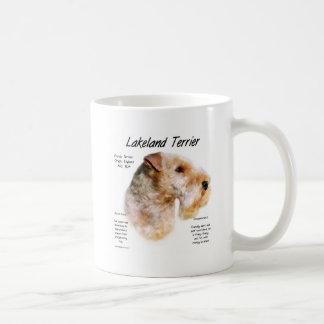 Diseño de la historia de Lakeland Terrier Taza