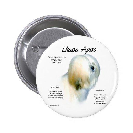 Diseño de la historia de Lasa Apso Pins