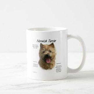 Diseño de la historia de Norwich Terrier Taza
