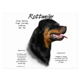 Diseño de la historia de Rottweiler Postales