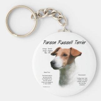 Diseño de la historia de Russell Terrier del párro Llaveros