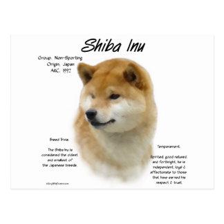 Diseño de la historia de Shiba Inu Postal