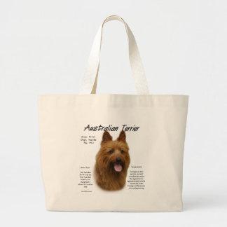 Diseño de la historia de Terrier australiano Bolsa Tela Grande