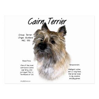 Diseño de la historia de Terrier de mojón Tarjeta Postal