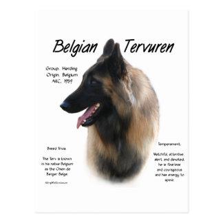 Diseño de la historia de Tervuren del belga Tarjeta Postal