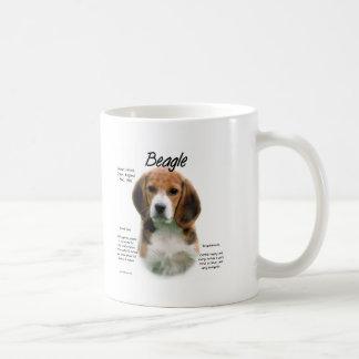 Diseño de la historia del beagle tazas