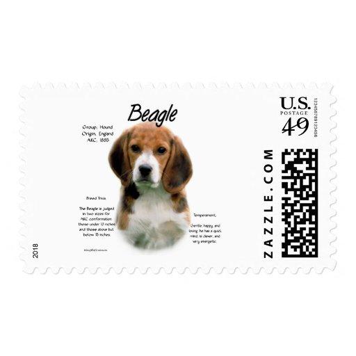 Diseño de la historia del beagle timbre postal