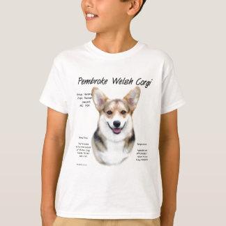 Diseño de la historia del Corgi Galés del Pembroke Camisas
