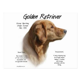 Diseño de la historia del golden retriever tarjeta postal