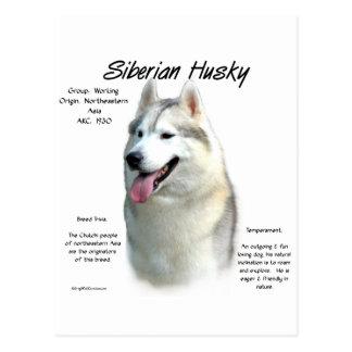 Diseño de la historia del husky siberiano postal