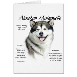 Diseño de la historia del Malamute de Alaska Felicitaciones