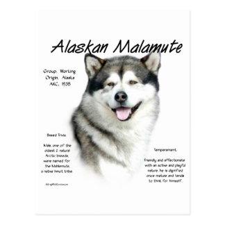 Diseño de la historia del Malamute de Alaska Postal