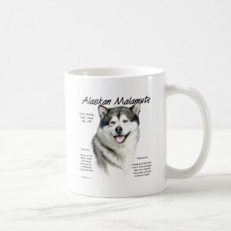 Diseño de la historia del Malamute de Alaska Tazas De Café