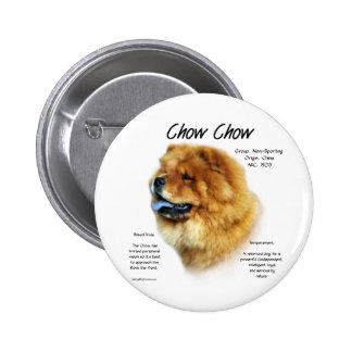 Diseño de la historia del perro chino de perro chi pin redondo de 2 pulgadas