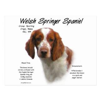 Diseño de la historia del perro de aguas de saltad postal