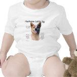 Diseño de la historia del perro de AustralianCattl Traje De Bebé