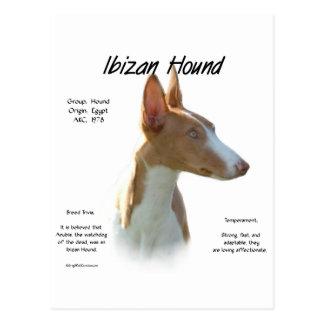 Diseño de la historia del perro de Ibizan Postal