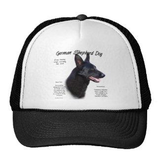 Diseño de la historia del perro de pastor alemán gorras de camionero