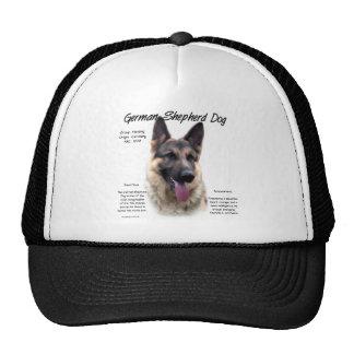 Diseño de la historia del perro de pastor alemán gorros bordados