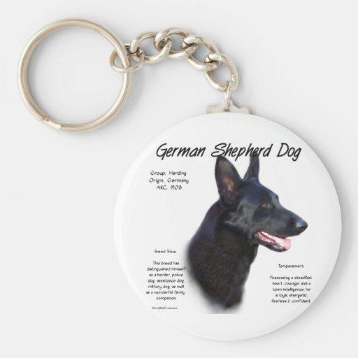 Diseño de la historia del perro de pastor alemán ( llavero personalizado