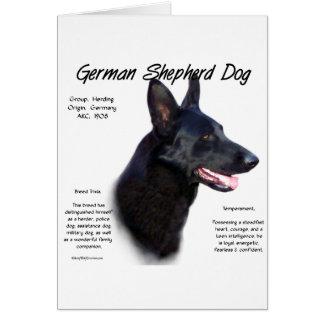 Diseño de la historia del perro de pastor alemán ( tarjeta de felicitación