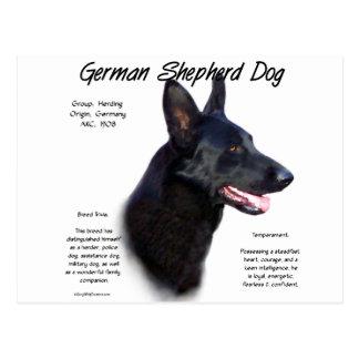 Diseño de la historia del perro de pastor alemán tarjeta postal