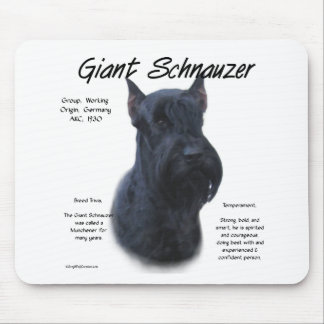 Diseño de la historia del Schnauzer gigante Alfombrillas De Raton
