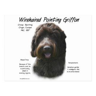 Diseño de la historia el señalar Griffon Wirehaire Tarjetas Postales