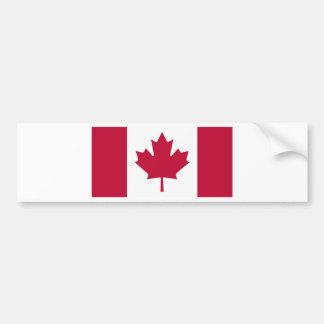 Diseño de la hoja de arce de la bandera de Canadá Pegatina De Parachoque