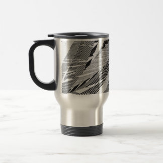 Diseño de la hoja de la palmera taza