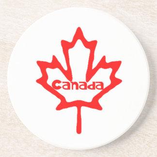 Diseño de la hoja del Canadá-Arce Posavasos De Arenisca